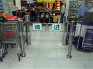 超市商场出入口单边带护栏摆闸