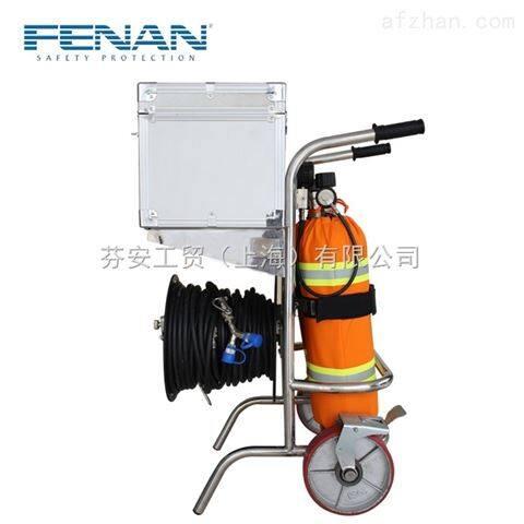 芬安制造 立式两瓶推车式长管呼吸器/移动供气源