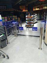 超市圆柱摆闸单向出口