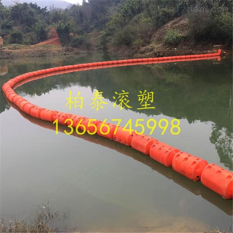 景区水面拦污效果,饮用水源拦污浮筒,警示浮筒