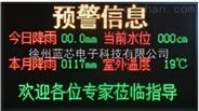 新型小流域山洪入户预警系统蓝芯电子LXDZ-WXP-01型预警大屏