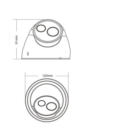 ja-638hr阵列半球摄像机产品结构图