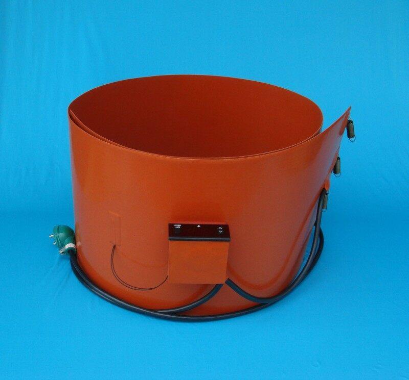 厂家直销 硅橡胶油桶加热带加热片加热板技术指标 1.温度范围:-40.00~250.00 2.电阻值精度:±10%(取较大值) 3.电力密度:0.10~1.50w/cm² 4.机械压力:100.00kg/cm² 5.最小弯曲半径:3.20mm 厂家直销 硅橡胶油桶加热带加热片加热板应用 1.工业设备管道、桶罐等 2.