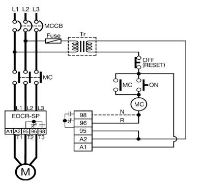 施耐德 韩国三和eocr-sp 典型参考图/接线图/安装尺寸图